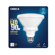 cree 90w equivalent bright white 3000k par38 47 degree flood led