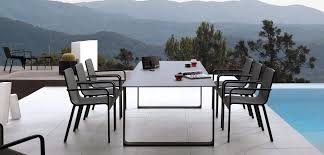 contemporary dining table teak glass wrought iron prato