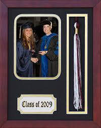tassel frame graduation photo and tassel frame in mahogany finish b ships