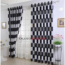 Cheap Black Curtains Fashionable Check Black Plaid Blackout Curtains Buy Multi Color