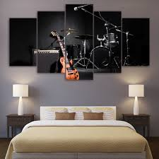 jazz home decor hd printed home decor 5 panel painting canvas wall art frame
