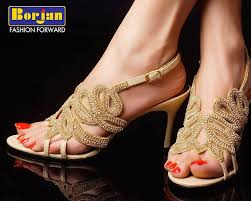 Wedding Shoes India Borjan High Heels Sandals Summer Collection 2014 With Price