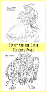 beauty and the beast coloring pages the kid u0027s fun review