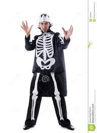 handsome man posing in skeleton costume stock photo image 43288864