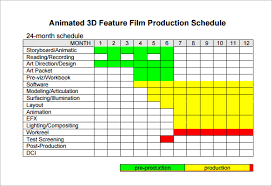 Production Schedule Template Excel Free Shooting Schedule Template 24 Free Word Excel Pdf Format