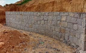 Conhecido Muro de arrimo de pedra rachão Muro de arrimo de pedra bruta  &EY16