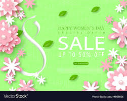 s day sale 8 march happy womens day sale banner beautiful vector image