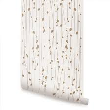 peel and stick wallpaper leaves beige peel and stick fabric wallpaper 2ft x 9ft sheet