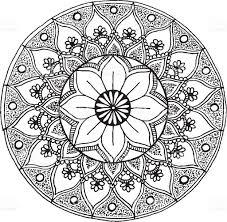 mandala ornament illustration stock vector