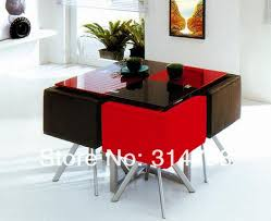 Glass Dining Sets 4 Chairs Modern Design Dining Sets Glass Dining Table With Powder Coating