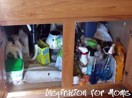 Under Kitchen Sink Cabinet Liner by 21 Days To A Clean Organized Home Day 14 A Peek Under The Sink