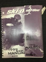 ski doo 1999 shop manual collection volume 1 2 3 484200003