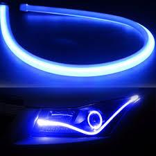 led strip lights headlights 45cm flexible car soft tube led strip light drl daytime running