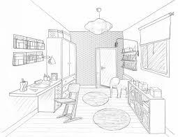 dessin de chambre en 3d stunning chambre en perspective lineaire ideas design trends 2017