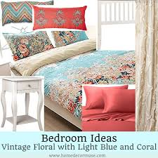 vintage floral romantic blue bedroom design home decor muse