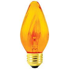 sylvania decorative light bulbs 25f15 amber 25 watt amber bulb