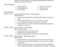 Bus Driver Resume Template Asian Menu Template Free Resume