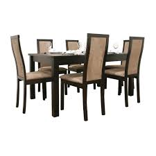 Dining Room Sets Free Shipping by Pollard 7 Piece Dark Brown Modern Dining Set Free Shipping Today