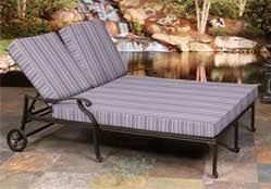 custom double chaise cushions