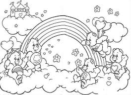 rainbow care bears coloring pages printabe womanmate