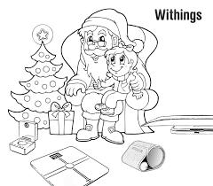 christmas santa claus sleigh drawing ne wall