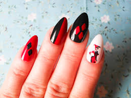 harley quinn stiletto nails fake nails false nails acrylic