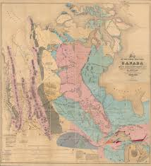 Maps Of Canada by First Map Of Canada U0027s West Canadian Geographic