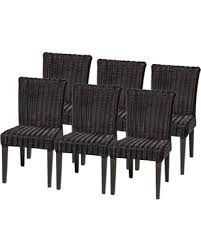 Outdoor Dining Area With No Chairs Deal Alert Tkc Venice Wicker Patio Dining Chairs No Cushion Set