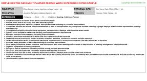 Sample Event Planner Resume by Meeting And Event Planner Job Title Docs
