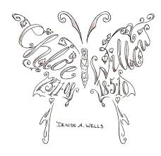 name in butterfly design by a tattoomagz
