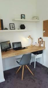 Designer Floating Desk Floating Shelves In A Niche And A Floating Desk Top With The Same