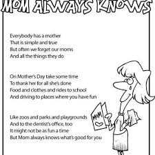 coloring pages mothers day poems for poem