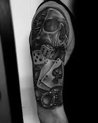 40 poker chip tattoo designs for men masculine ink ideas