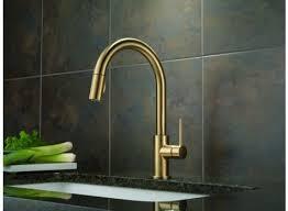 delta pull kitchen faucet delta trinsic single handle pull kitchen faucet faucets