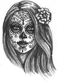 gallery for u003e dia de los muertos skull drawing day of the