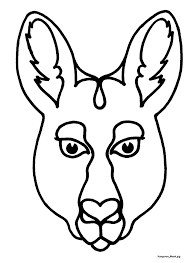 mask template mask templates for australian other animals australia 3