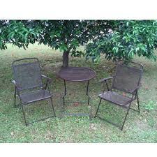 wrought iron vs steel patio furniture garden treasure patio