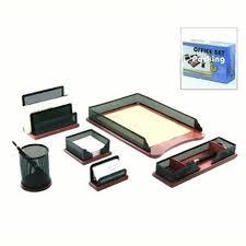 Desk Set Organizer Luxury Gifts Inc Lgi 6pc Desk Set Mesh And Wood Desk Organizer