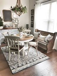 Area Rugs For Under Kitchen Tables Best 25 Farmhouse Dining Room Rug Ideas On Pinterest Colorful