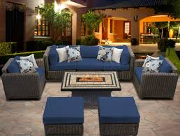 tk classics venice 8 piece fire pit seating group with cushion