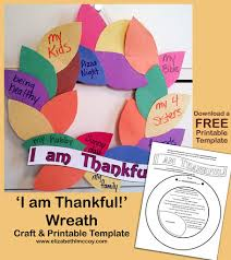 easy thankful wreath craft with free printable template this