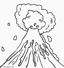 coloring pages volcano printable volcano coloring pages for kids cool2bkids