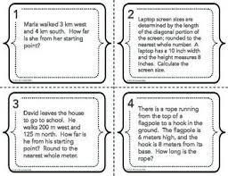pythagorean theorem word problems worksheet grade 8 free