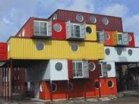 process and finish videos of shipping container architecture and