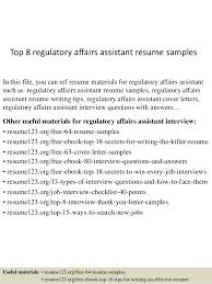 successful resume templates top 8 regulatory affairs assistant resume samples 1 638 jpg cb u003d1432958053