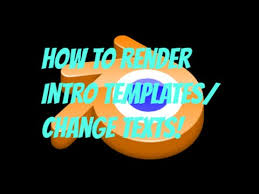 blender how to change text for intro templates youtube