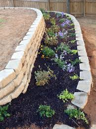Ideas For Retaining Walls Garden by Retainer Wall Flower Bed For An Uneven Backyard Back Yard In