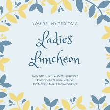 luncheon invitations customize 113 luncheon invitation templates online canva