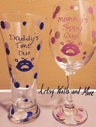 daddy u0027s time out and mommy u0027s sippy cup glass funny