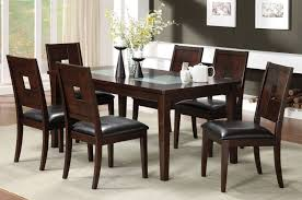 walnut dining room table and chairs 6451